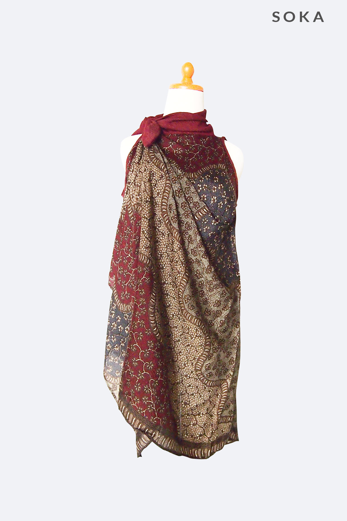 Batik Turtle Neck Dress  72eb9daba4