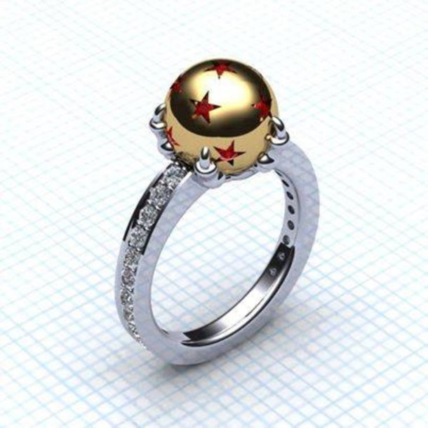 jewels dragon ball z dragon ball ring engagement ring With dragon ball wedding ring
