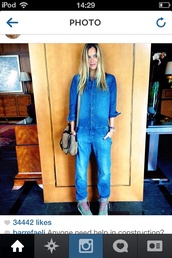 dress,bar refaeli,sexy,jeans,denim,jumpsuit,romper,hipster,onesie