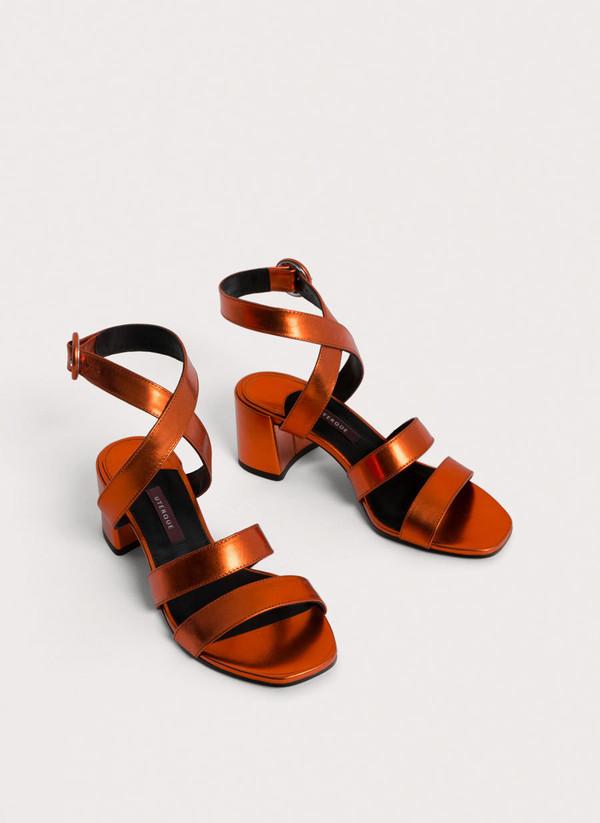 shoes sandals orange