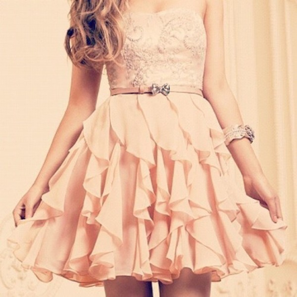 dress pink dress salmon dresses salmon dress cute dress belt rouches rouching nice cuteness