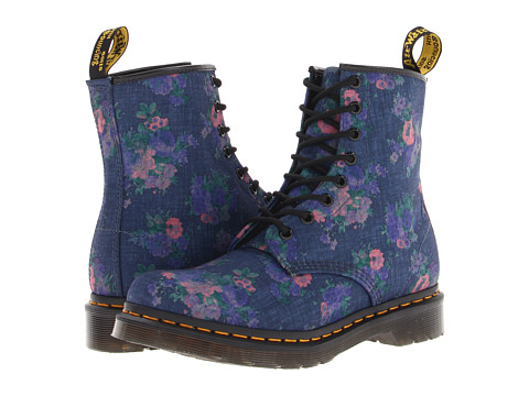Dr. Martens Castel 8-Eye Boot W Denim Vintage Bouquet - Zappos.com Free Shipping BOTH Ways