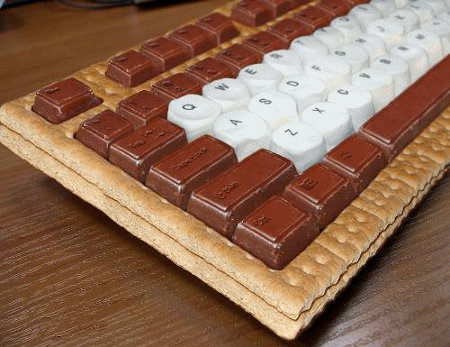 Mmmm, chocolatey: the s'mores keyboard
