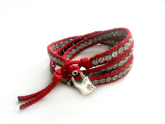 Valentine's Day Gift  Wrap Bracelet  Jewelry   by GULDENTAKI
