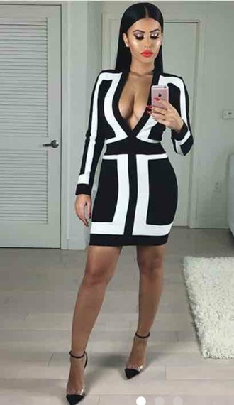 dress bandage dress deep v dress tight dresses amrezy