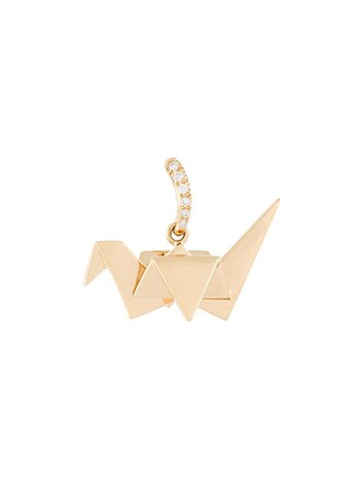 origami pendant metallic jewels