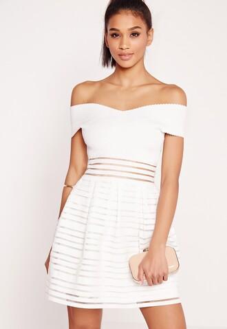 dress white white bandage dress bandage bardot off the shoulder dress summer summer dress girl summer dress