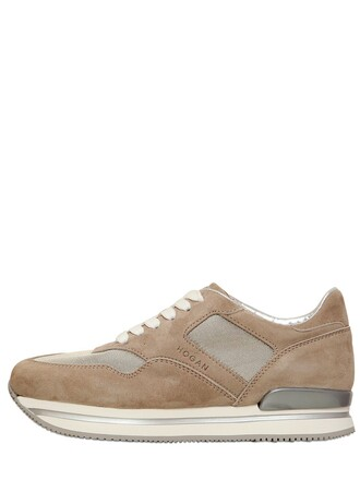 sneakers suede beige shoes