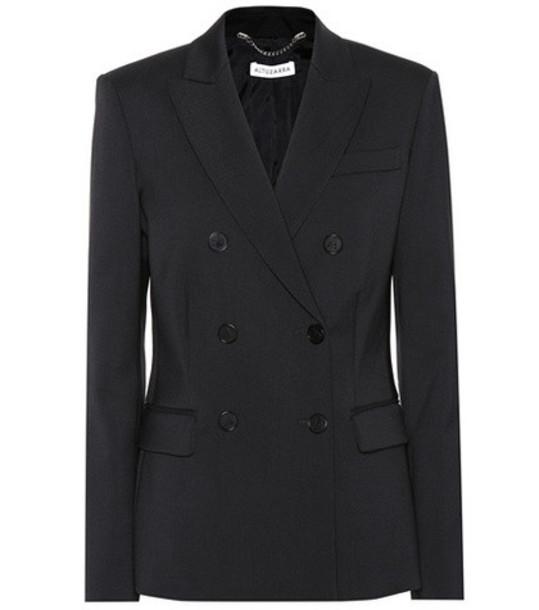 Altuzarra Diana stretch wool blazer in black
