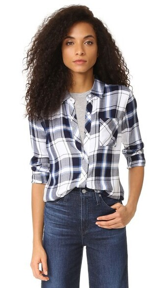 shirt button down shirt navy white top