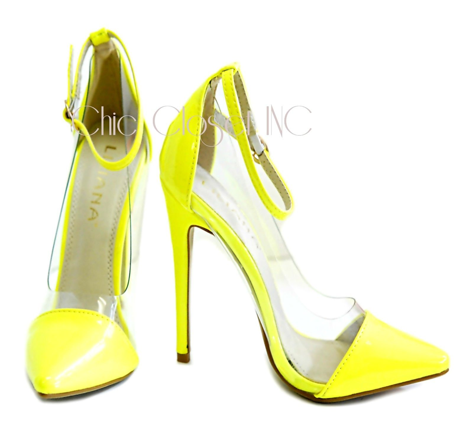 Neon Yellow Pointy Toe Heels - Is Heel