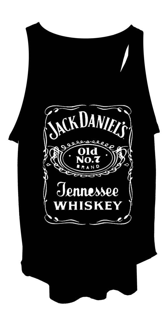 Jack daniels ladies designer soft tank top vest by stabilitees