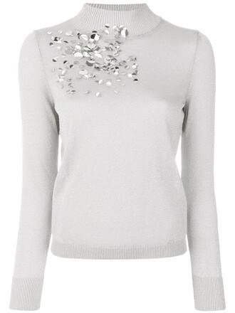 top women sequins grey