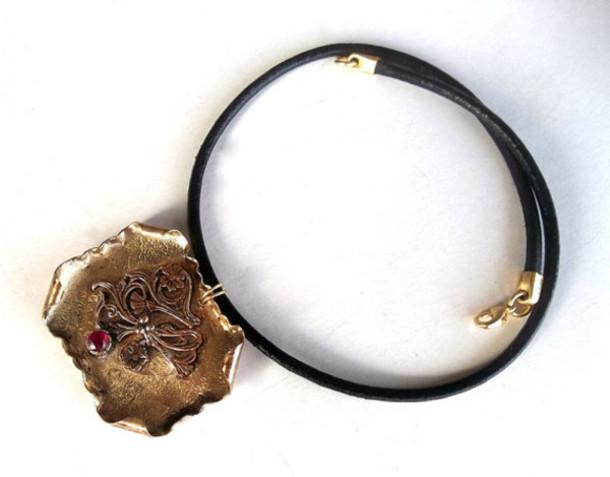 jewels brass metal forwomen jewelry metal metalwork handmade necklace pendant