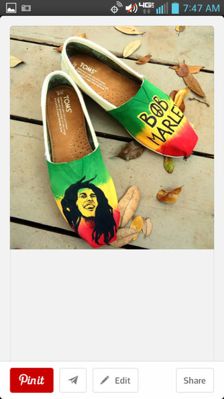 shoes toms bob marley