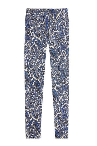 Diane von Furstenberg Mid Rise Printed Skinny Pants