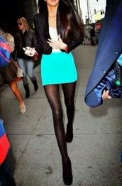 skirt,blue,light,cute,kendall jenner,kardashians,aqua,short