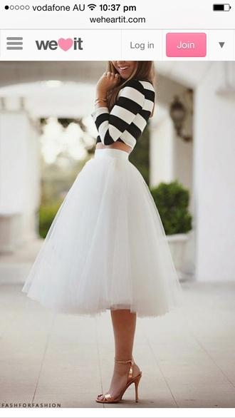 skirt white tulle skirt shirt