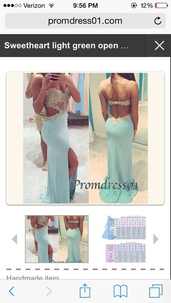 dress light blue prom dress sparkly dress light green