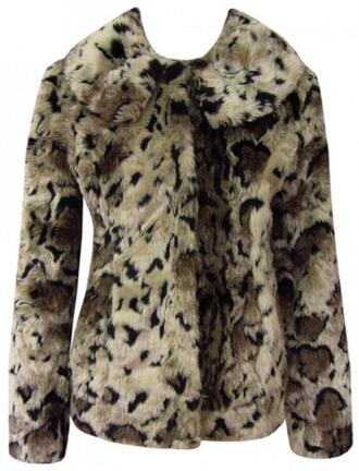 jacket fur faux fur jacket animal print fashion purpleroseboutique faux fur coat