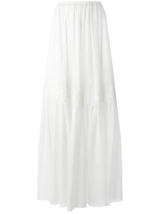skirt women white silk