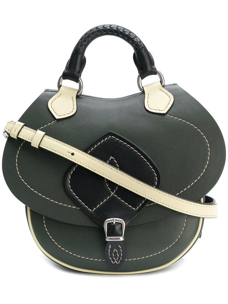 women bag leather green
