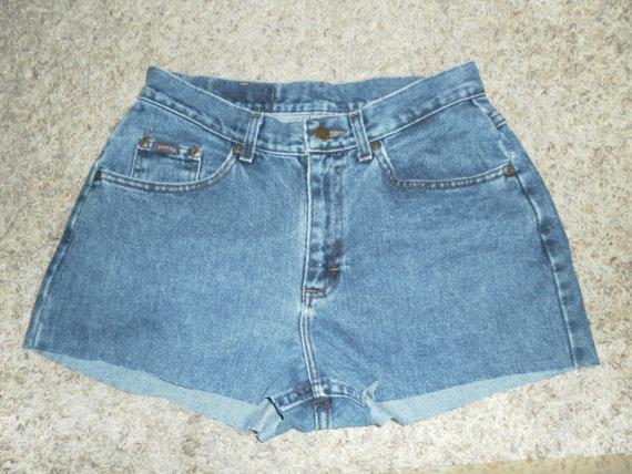 Vintage high waist jean shorts waist 30  lee by lupearlstreasure