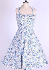 50s style,swing,swing dress,long dress,housewife dress,halter dress,vintage drss,vintage,retro,Pin up,blue dress,1950s dress,rockabilly