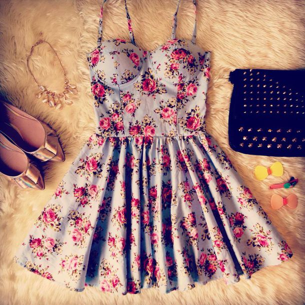 roses bustier dress floral dress light blue spring dress summer dress studded bag outfit idea skater skirt ballet flats pointed toe nastygal dress shoes flower dress floral pink cream pretty casual formal ariana grande multicolor floral dress pink dress pink flowers blue dress corset dress floral fashion love omg! dress omg!! i want girly light blue blue summer floraldress clothes colorful dress bustier pretty pastel flowers jewels style cute dress cute grey dress beautiful dresses casual dress simple dress bag spring mini dress baby blue gold gold shoes studs tumblr tumblr outfit skater dress