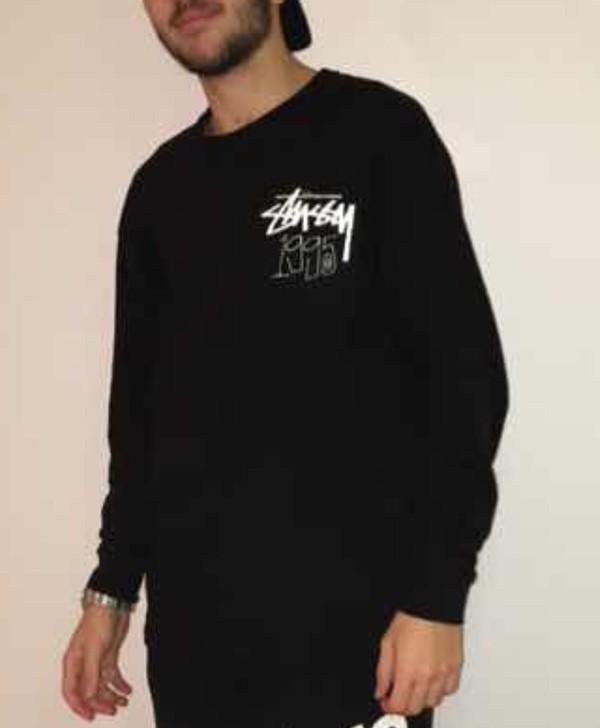 shirt stussy t-shirt stussy black black 1995 stussy stussy sweatshirt