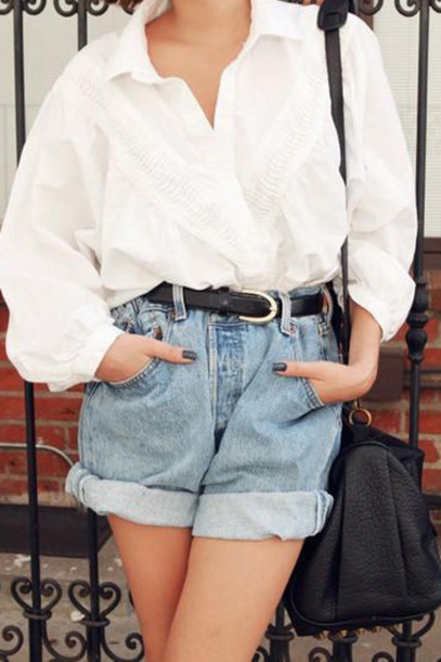 Shirt Retro Top Summer Vintage Oversized 90s Grunge Blouse