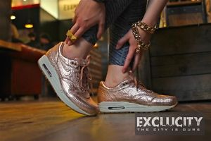 size 40 38ba5 ef362 wmns nike air max 1cut out prm premium metallic red bronze 100 ...