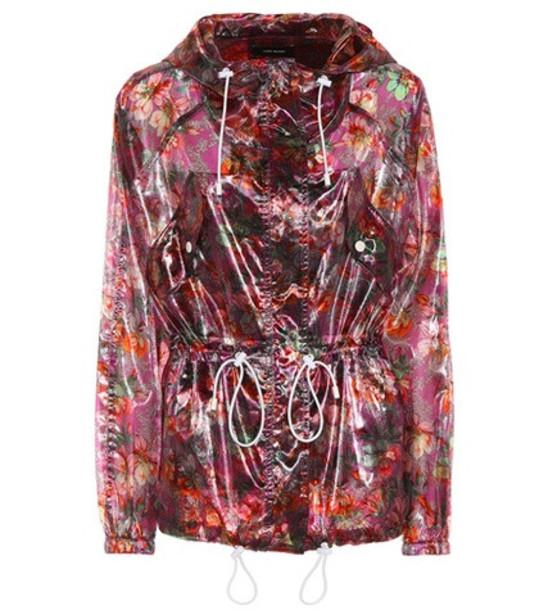 Isabel Marant Olaz floral-printed jacket in purple