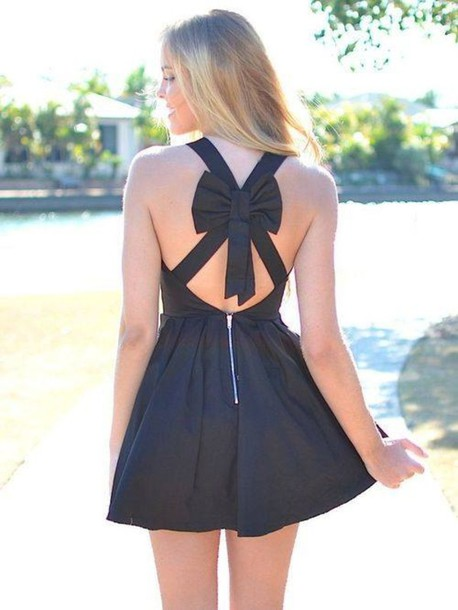 Dress: girl, cute$, beatifu, black, black dress, tumblr ...
