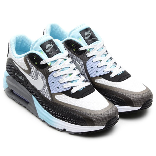 shoes nice nike air max 90 comfort blue black grey white sneakers tumblr air max