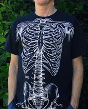 t-shirt,rib cage,bones,human anatomy,shirt,cool