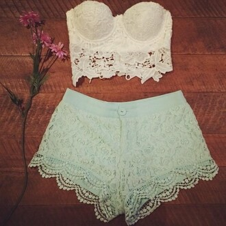 tank top bustier white bustier summer summer outfits crop lace strapless