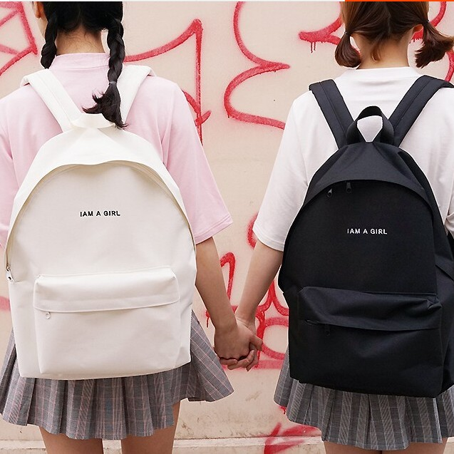i am a school bag Cheap school bag for teenager, buy quality bags for teenager directly from china canvas backpack suppliers: travel casual bag laptop bag escolar mochila women canvas backpack print letter i am a girl school bag for teenager ladies enjoy free shipping worldwide limited time sale easy return.