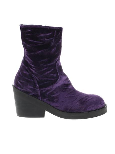ANN DEMEULEMEESTER shoes velvet