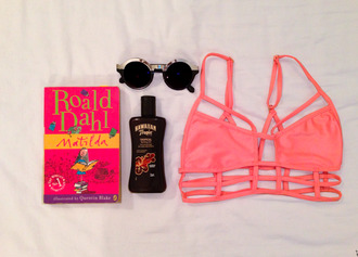 sunglasses pink black silver pink bikini swimwear round sunglasses bikini