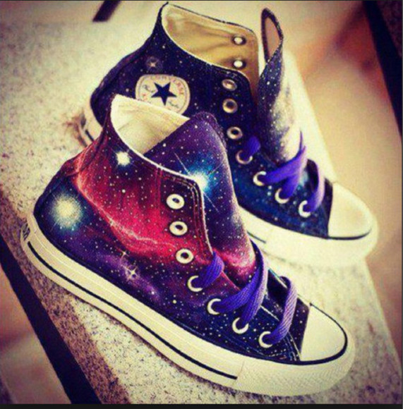 converse converse shoes galaxy shoes cool converse all star converse galaxy