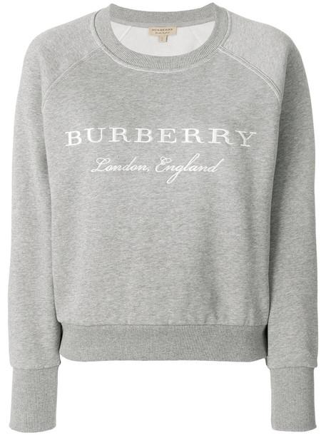 Burberry sweatshirt embroidered women cotton grey sweater