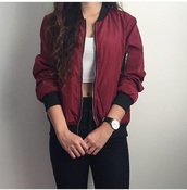 jacket,red,bomber jacket