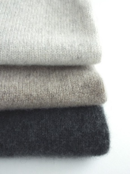 sweater grey knit cashmere pullover