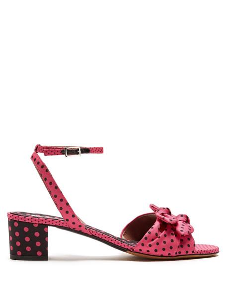sandals print pink shoes