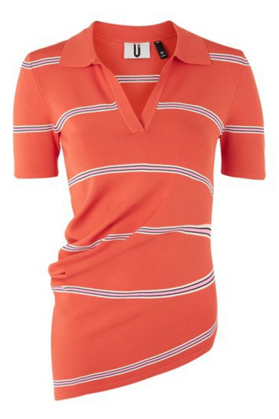 Topshop shirt polo shirt red top
