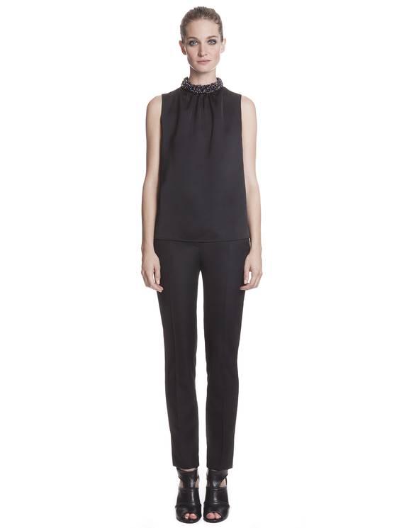 Pantalon Pour Noir - Pantalons Sandro - E-Boutique Officielle SANDRO / Collection Printemps-Été 2013 SANDRO