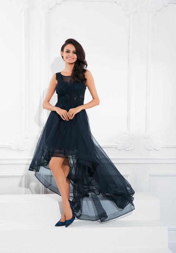 2016 Princess Organza High Low Prom Dresses Designer Sheer Bateau ...