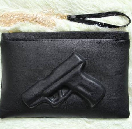 The guardian gun embossed clutch – glamzelle