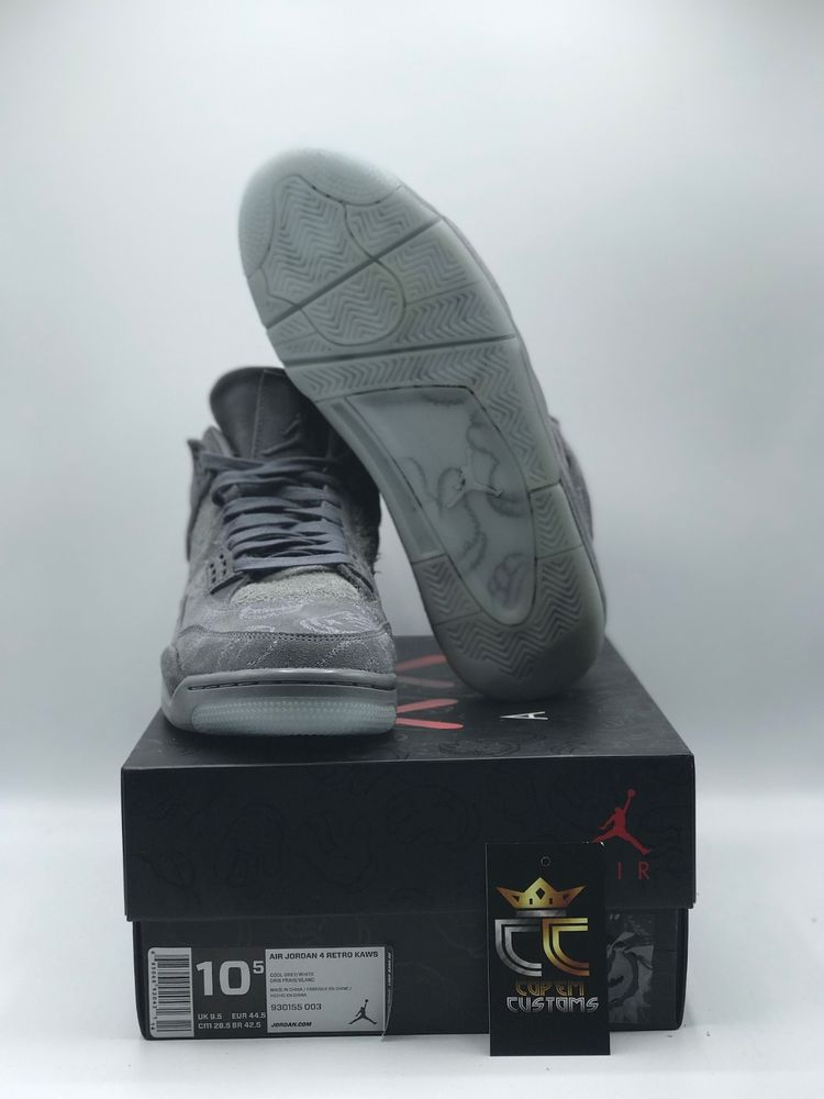 cheap for discount 53274 0a98c Nike Air Jordan IV 4 X Kaws Cool Grey White Glow SZ 10.5 930155-003